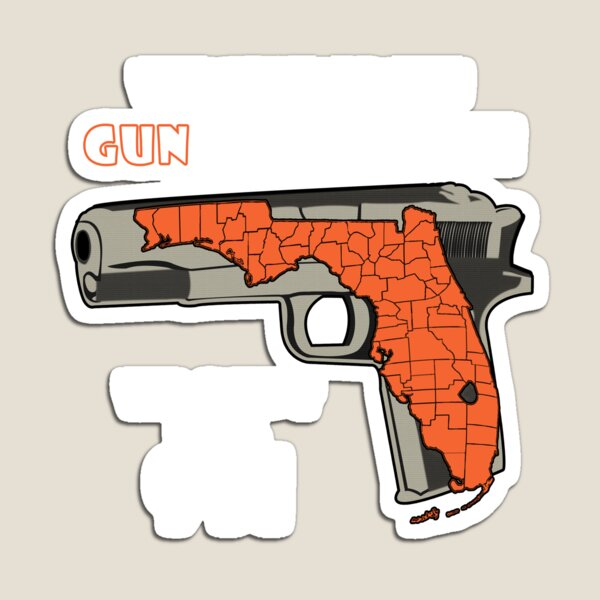 Welcome To The Gunshine State We Don't Dial 911 T-Shirt & Sticker Magnet