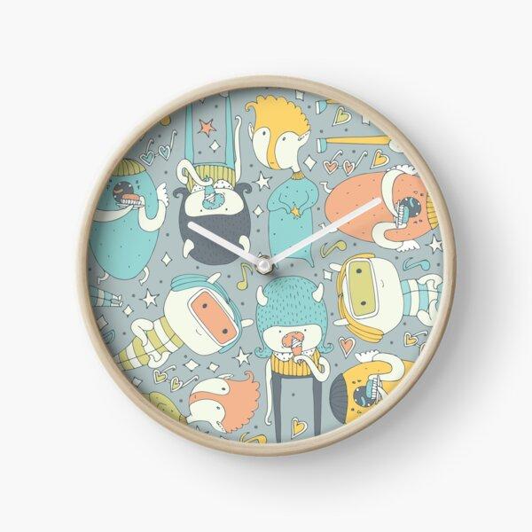 Monsters love eating... Clock