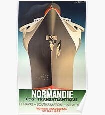 Art Deco Cruise Ship Poster