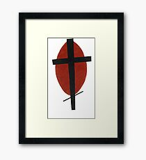 suprematism abstract art cross Framed Print