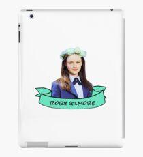 rory gilmore flower crown sticker iPad Case/Skin