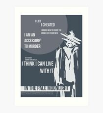 In the Pale Moonlight Art Print