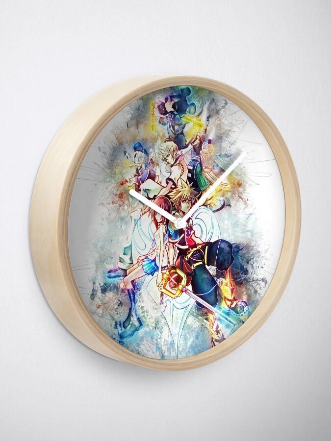 Alternative Ansicht von Kingdom Hearts Familie Uhr