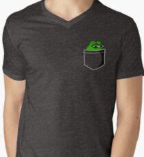 Frog in pocket Men's V-Neck T-Shirt