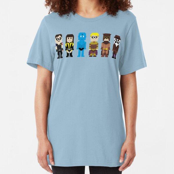 8-Bit Super Heroes 4: The Watch Guys Slim Fit T-Shirt