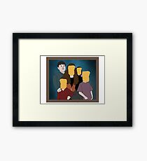 Chicken Nuggets is like my Family Framed Print
