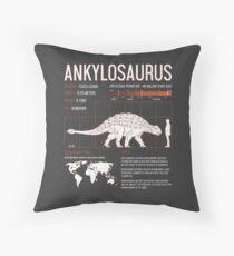 Ankylosaurus Dinosaur Facts Mens Womens Kids Science Throw Pillow