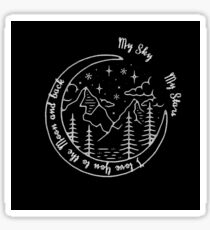 Tumblr - I love You to the Moon and back Sticker