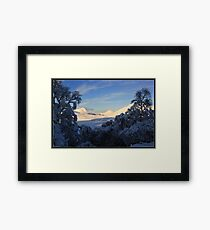 Stac Pollaidh Snow Framed Print