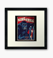 King Kong Vintage Retro Movie Poster Framed Print