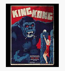 King Kong Vintage Retro Movie Poster Photographic Print