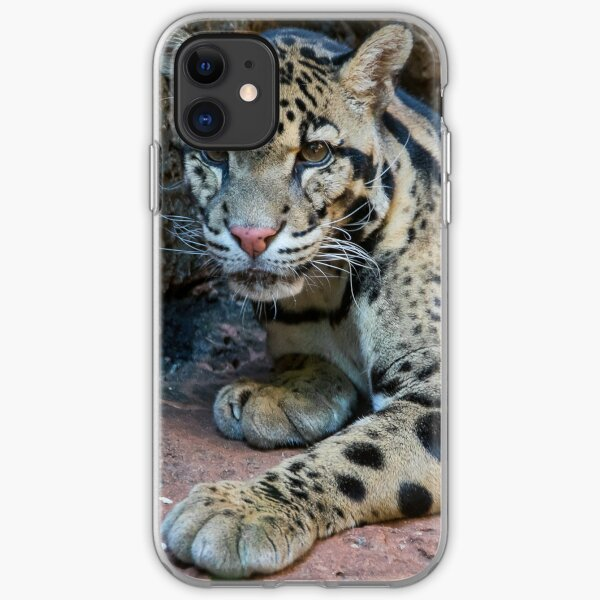 The Elusive Clouded Leopard iPhone Soft Case