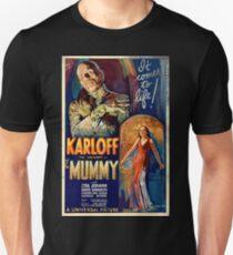 Mummy Boris Karloff Movie Vintage Poster T-Shirt