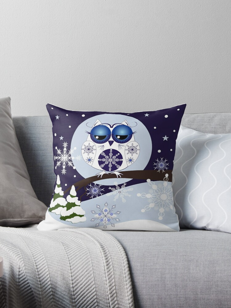 Snow Owl in Snowflakes land by walstraasart