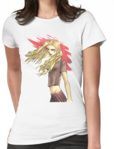 A Girl with TATOO on her face Womens Fitted T-Shirt
