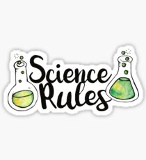 Science Rules Sticker