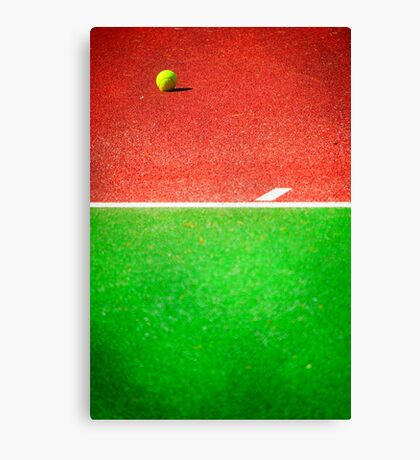Yellow tennis ball Canvas Print