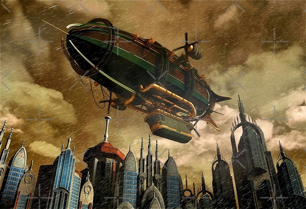 Steampunk Airship 3 by Gypsykiss