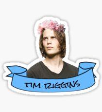 tim riggins flower crown sticker Sticker