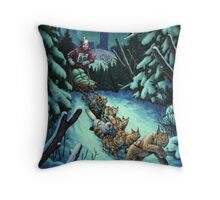 Gilly & the Snowcats Throw Pillow