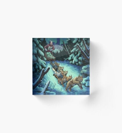 Gilly & the Snowcats Acrylic Block