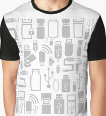 Usb a background Graphic T-Shirt