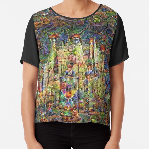 DeepDream Pictures, Cathedral 001 Chiffon Top