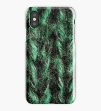 Green Knitted Background  iPhone Case/Skin