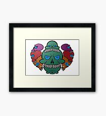 Colored Skull Army Framed Print