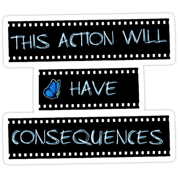 actions have consequences essay Behavior and consequences series about: discipline istock/thinkstock do you have a grip on reality here's a quiz to find out  when a child's actions do not .