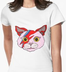 David Cat Womens Fitted T-Shirt