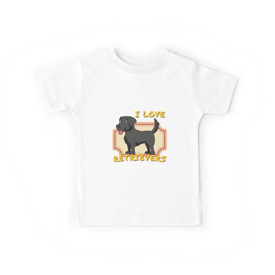 «Me encantan los perros perdigueros - Black Labrador Retriever» de dogdressup