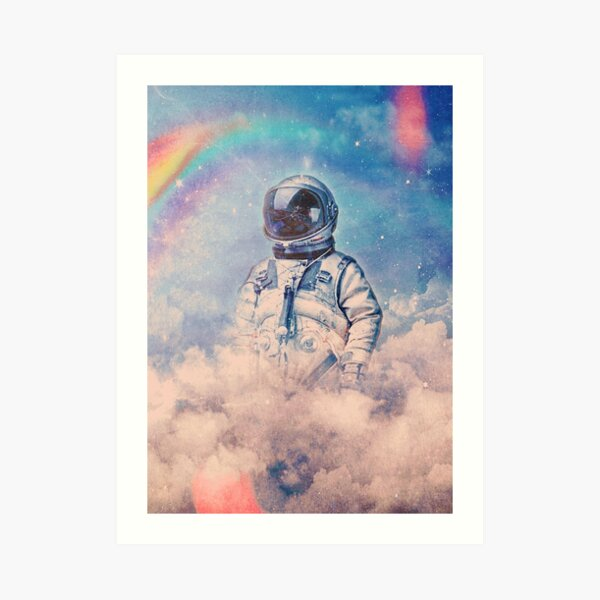 Between the Clouds Art Print