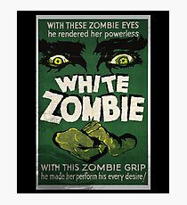 White Zombie Vintage Movie Poster  Photographic Print