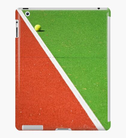 Red :: Green :: White Line and Tennis Ball iPad Case/Skin