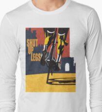 retro styled Tour de France cycling illustration poster print: SHUT UP LEGS Long Sleeve T-Shirt
