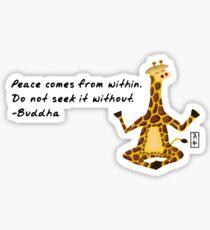Giraffe Zenimal with Buddha Quote Sticker