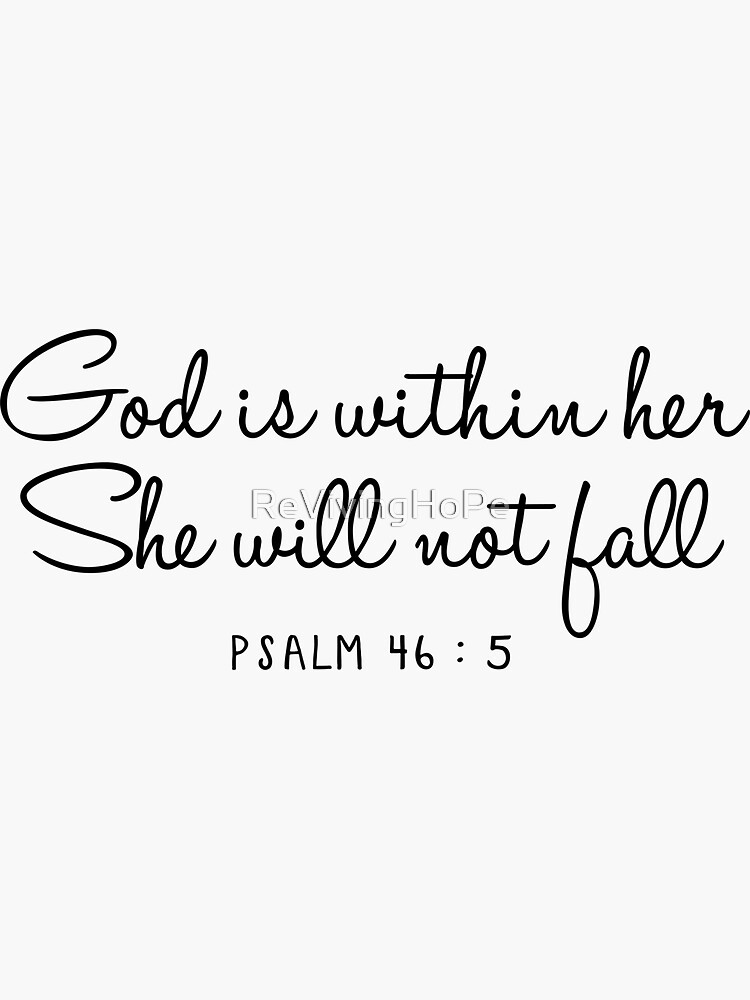 Psalm 46:5 by ReVivingHoPe