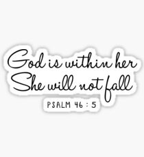 Psalm 46: 5 Sticker