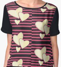 Love pattern. Valentine's Day Chiffon Top