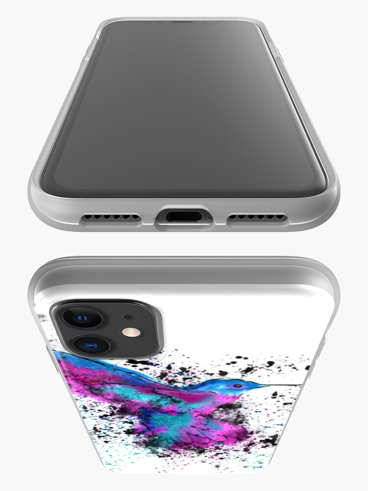 Alternate view of Splash of a Hummingbird iPhone Case & Cover