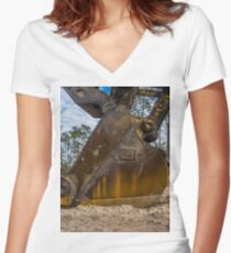 bucket excavator 2 Women's Fitted V-Neck T-Shirt