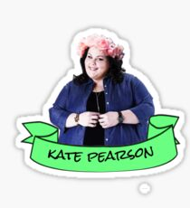 kate pearson flower crown sticker Sticker