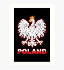 Poland - Polish Coat of Arms - White Eagle Art Print