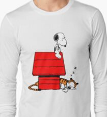 Snoopy and Hobbes Long Sleeve T-Shirt
