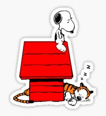Snoopy and Hobbes Sticker