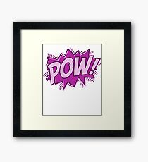POW! COMIC BOOK Graphic Framed Print