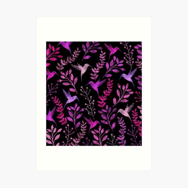 Floral and Bird  Art Print