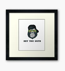 Hey you guys, funny youth design Framed Print