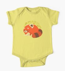 Sleeping Red Panda and Bunny One Piece - Short Sleeve